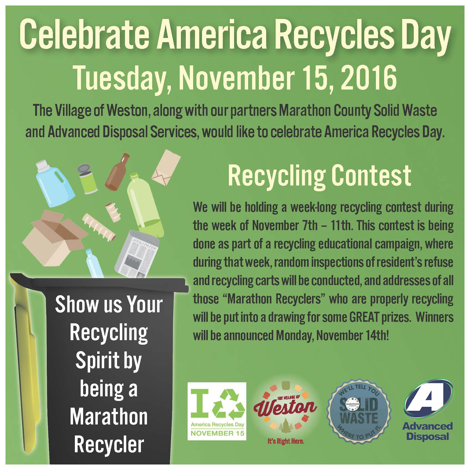 America Recycling Day 2016 - Ad