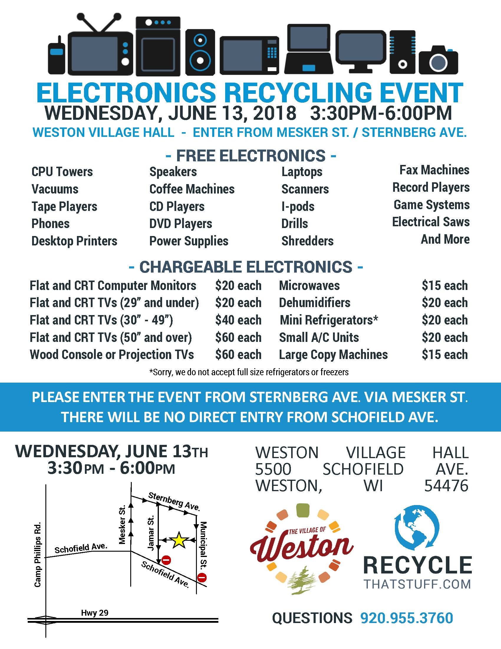 180613 Electronics Recycling Event Flyer