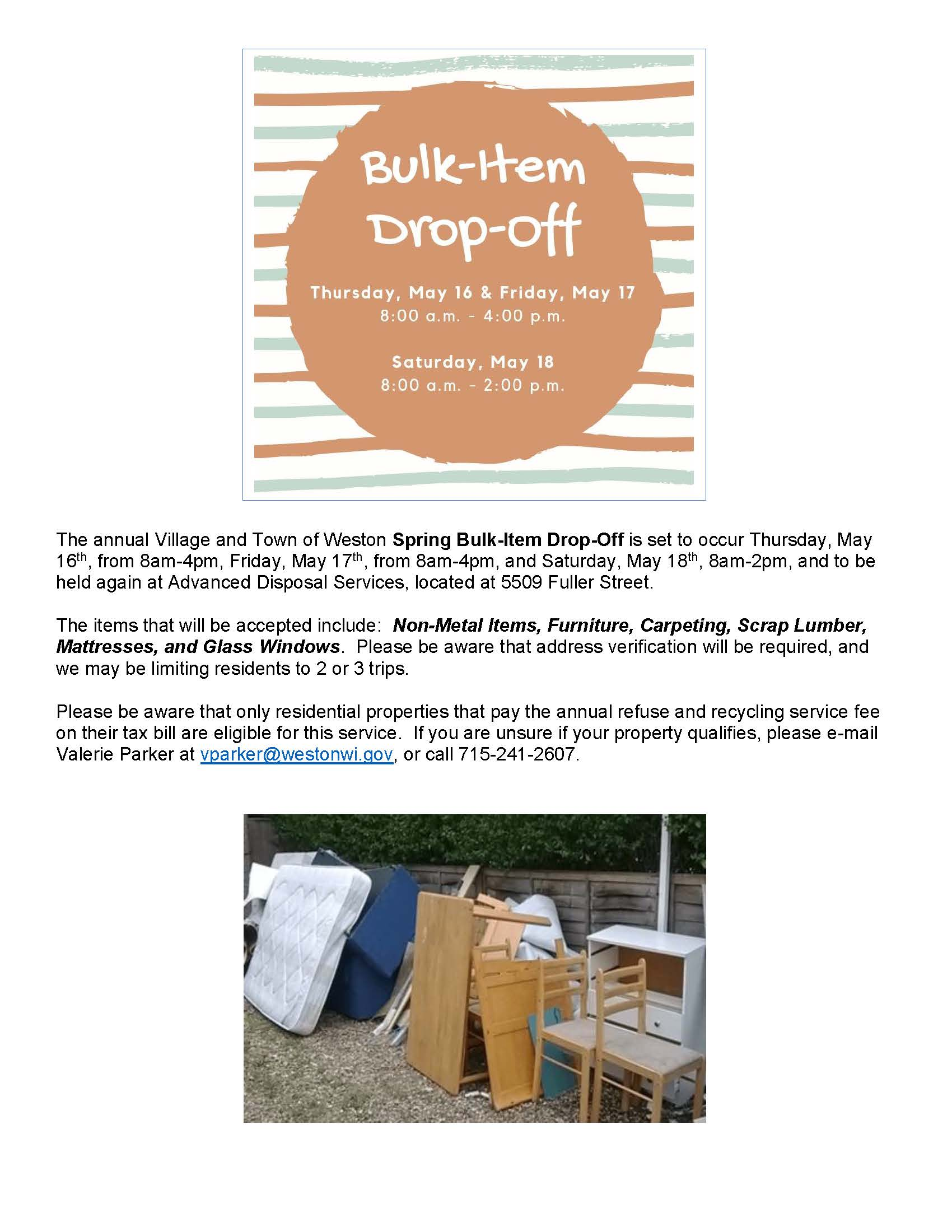 Spring Bulk-Item Drop-Off Flyer