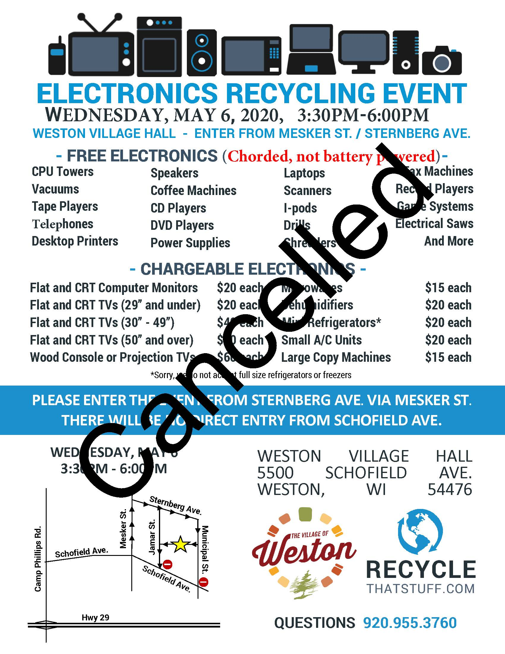 Weston - Electronics Flyer - Spring 2020 - Cancelled