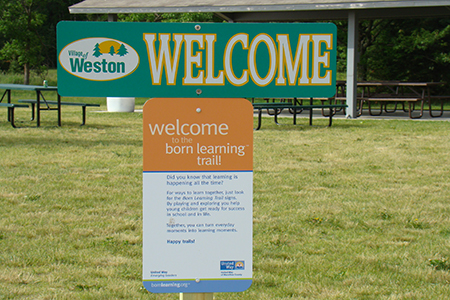 Born Learning Trail Welcom Sign